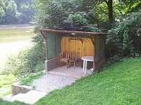 posezení u vody - chata k pronájmu Oslnovice