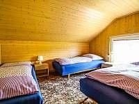 Ložnice II v patře v chatě Babeta - k pronájmu Jevišovice