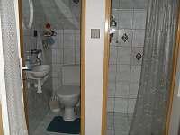 Sociální zařízení a sprchový kout - chata ubytování Dolní Bojanovice