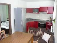 Apart. č . 3 obývací pokoj s kuchyní , ložnice - Vacenovice