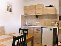 kuchyňka zadní apartmán - ubytování Jevišovka