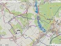 cykloturistická mapa směrem na severo-východ - chalupa k pronajmutí Prušánky