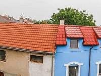 Pohled z okna sklepa směrem do Nechor - pronájem chalupy Prušánky