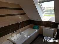 koupelna v patře - pronájem chalupy Dražůvky
