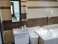 koupelna v patře - chalupa k pronajmutí Dražůvky