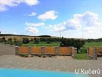 výhled od bazénu - chalupa k pronájmu Dražůvky