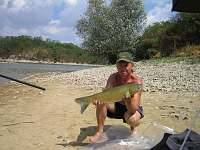 rybolov na přehradě