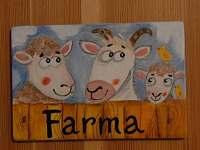 Farma - společenská místnost označení obrázkem
