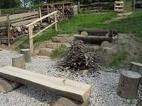 Posezení u ohniště - dřevo pro pečení dobrot zdarma