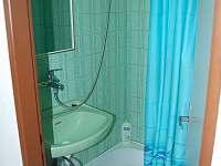 Koupelna se sprchovým koutem - chata k pronajmutí Perná