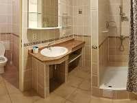 sprchový kout a wc v přízemí