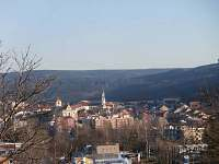 pohled na Boskovice z chaty