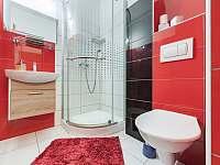 Koupelna apartmánu A1 - ubytování Pozlovice
