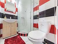 Koupelna apartmánu A3 - ubytování Pozlovice