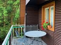 Posezení balkón - chata k pronajmutí Tvarožná Lhota - Lučina