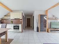 Apartmán II - Kuchyně s obývacím pokojem - ubytování Mikulov
