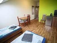Apartmán s terasou - zadní pokoj s lednicí, TV, wi-fi. - ubytování Sedlec u Mikulova