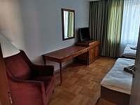 Apartmány Hluk - Ložnice se 2-mi jednolůžky v přízemního apartmánu - pronájem