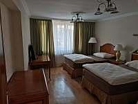 Apartmány Hluk - Ložnice se 2-mi jednolůžky v přízemního apartmánu - k pronájmu
