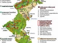 Mapa Moravského krasu