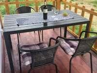 Veranda s posezením - chata ubytování Šakvice