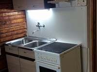 kuchyně - pronájem chaty Pístovice