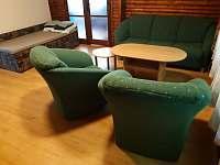 společenská místnost - chata ubytování Pístovice