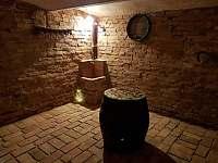 Vinný sklípek s degustačním sudem
