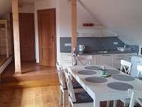 kuchyňskou kout - šestilůžkový apartmán