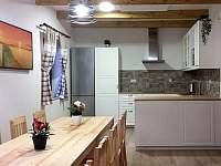 společenská místnost s kuchyní - chalupa k pronájmu Jestřebice