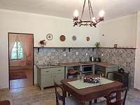 Obytná kuchyň - apartmán ubytování Houska