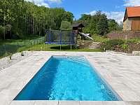 Vyhřívaný bazén s protiproudem - chalupa k pronajmutí Jestřebí - Újezd
