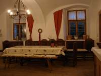 Společenská místnost II - chalupa k pronájmu Mošnice