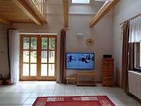 obývací pokoj - pronájem chalupy Heřmánky u Dubé