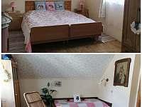 Druhý pokoj patro 3 lůžka - chalupa k pronájmu Konrádov