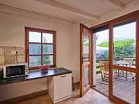 kuchyň s terasou - chata ubytování Oblanov - Dolce