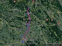 mapa - Žacléř - Prkenný Důl