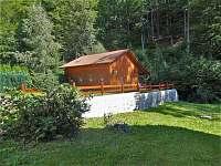 pohled na srub - chata ubytování Žacléř - Prkenný Důl