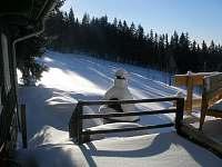 Terasa s grilem v zimě