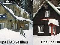 Chalupa ve filmu a dnes - chata ubytování Špindlerův mlýn