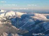 Letecká fotka - Chata DIAS 805 m n.m. - k pronájmu Špindlerův mlýn