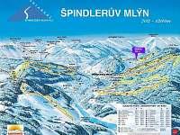 Zimní mapa a Chata DIAS 805 m n.m. - Špindlerův mlýn