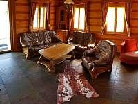 Roubenka čp 145 - luxusní interiér, výhledy, u lesa na pozemku 20tis m2 - chalupa k pronajmutí Jílové u Držkova