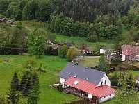 pohled z lesa za domem - chalupa k pronájmu Žacléř - Prkenný Důl