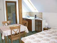 Kuchyňka v pokoji - ubytování Benecko