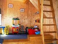 pokoj č.3 s hernou - v patře pokoje je matracové dvojlůžko