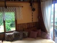 Obývací pokoj - chata ubytování Oblanov