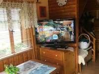 Obývací pokoj - pronájem chaty Oblanov