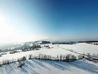 Pohled z výšky od lanovky - Aldrov - Roudnice v Krkonoších