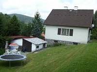 Zahrada a trampolina